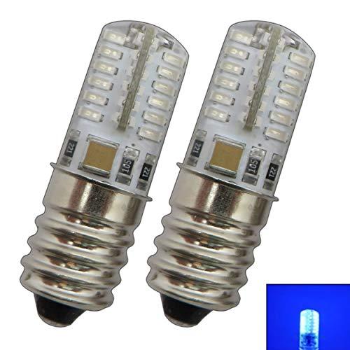 2x Stk. E14 LED Lampe 1,5/2,0 Watt blau/Blaulicht für den Kühlschränke/Lampen uvm. - E14/SES Leuchtmittel Kühlschrank Birne Glühbirne Ersatz (E14 1,5W Glas) (Ausführung, E14 2W Silikon)