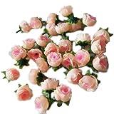 Eyourlife 100x Rosenköpfe Kunstrose Kunstblumen Rosenblüten künstlicher Rosen Hochzeit Party