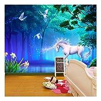 Unicorn Fairtale Birds Fantasy Wallpaper Mural Photo Children Poster DIY Decoration 325x215cm