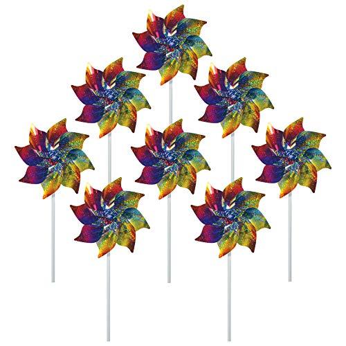 Rainbow Whirl Pinwheel - 8PC - Butterfly Birdbath
