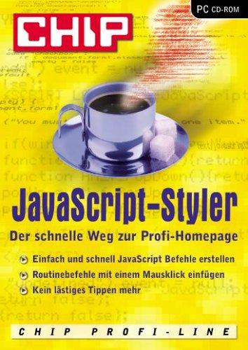 CHIP JavaScript-Styler, 1 CD-ROM Der schnelle Weg zur Profi-Homepage. Einfach und schnell JavaScript Befehle erstellen. Routinebefehle mit einem Mausklick einfügen. Kein lästiges Tippen mehr. Für Windows 95/98 (SE)/ME/XP und Internet Ex
