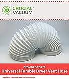 Muy resistente manguera de ventilación para secadora Universal; 4metros de longitud y 102mm de diámetro; Diseñado y fabricado por Crucial al vacío