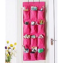 GYMNLJY 12 griglia tessuto deposito Organizer Oxford panno biancheria intima calze e borse di stoccaggio , rose red - Coperchio Di Plastica Rettangolare Passo
