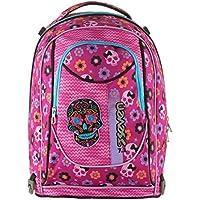 0a49870d02 trolley bambina scuola seven mexi girl 201001842 rosa teschio messicano  scuola elementare zaino 35litri sganciabile dal