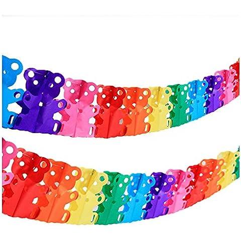 Super44day 10 pezzi colorati Orso Ghirlanda Carta velina Ghirlanda set, Ghirlanda Craft, per la decorazione di nozze, decorazione del partito, festa di compleanno, Nursery Decorazione pompon