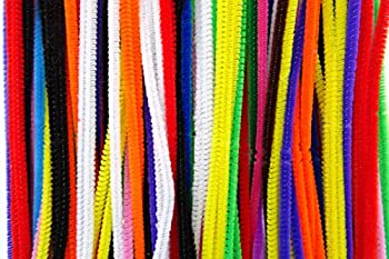 "25 Or 50 Chenille Stems Craft Pipe Cleaners - 10 Colour Choice - Size 6"" 15cm - Colour: Assorted, Pack Size: 25 0"