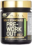 Optimum Nutrition Gold Standard Pre Workout Energie Booster (Pulver Shake mit Kreatin Monohydrat, Beta Alanin, natürliches Koffein und Vitamin B von ON) Green Apple, 30 Portionen, 330g