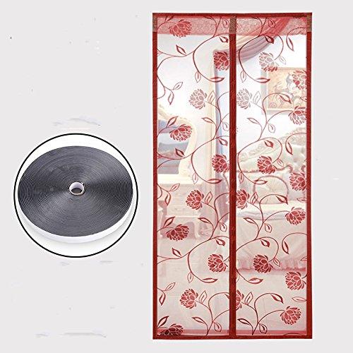 Magnetische Klett anti - moskito - vorhang schlafzimmer Haushalt im Sommer aus moskitonetz.-C-95x200cm(37x79inch)