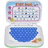 Study Cartoon Mini English Leaning Laptop Toy ( Multicolor)