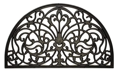 William Armes Wrought Iron Effect Mat 1/2 moon 75x45