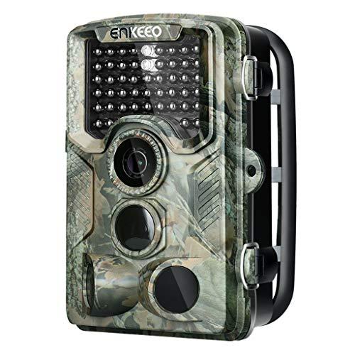 ENKEEO 16MP Camera de Chasse 1080P PH760 HD Caméra de Surveillance Étanche 47pcs 850nm de LEDs...