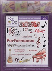 See Ds Lets Make Music 20 Rubber Stamps And Case  50092 Inque Boutique Sugarloaf