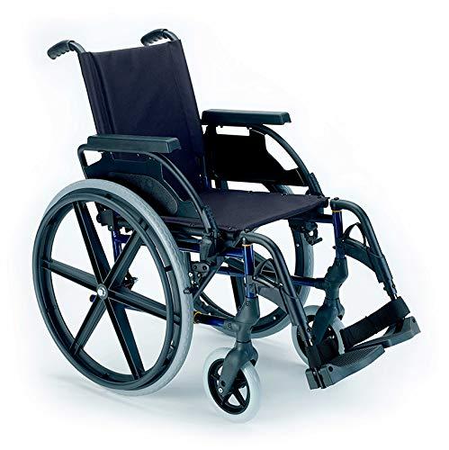 Breezy Premium Rollstuhl, zusammenklappbar, mit Rädern, 61-37, Grau
