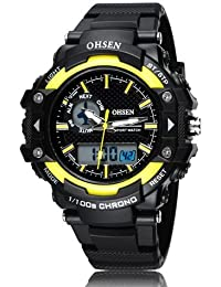 OHSEN Hot Sale Fashion Brand OHSEN LED Mens Sports Watches Digital Watch Men Man Alarm Date Day Stopwatch Rubber... - B077RWNW2J