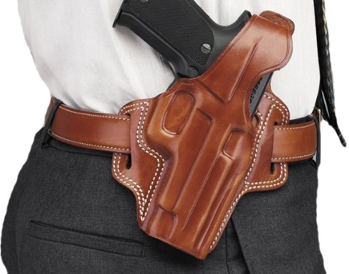 Galco Fletch High Ride Belt Holster for 1911 3-Inch Colt, Kimber, Para, Springfield (Tan, Right-hand)