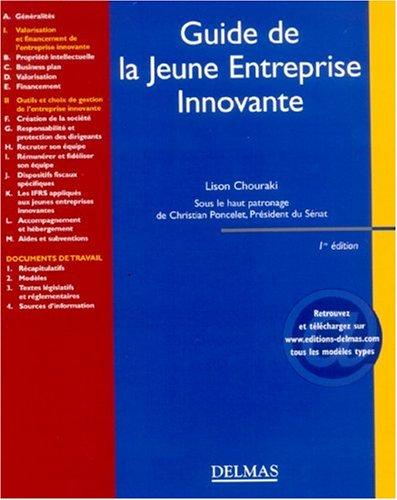 Guide de la Jeune Entreprise Innovante par Lison Chouraki