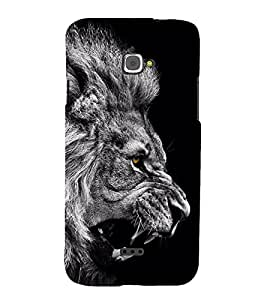 Fuson Designer Back Case Cover for InFocus M350 (Lion Roaring lion Black and White Lion Angry Lion King Of Jungle)