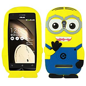 Heartly Cute Cartoon Soft Rubber Silicone Flip Bumper Best Back Case Cover For Asus Zenfone 5 A501CG Double Eye