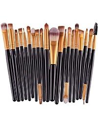 20pcs/set trucco pennello set strumenti make-up toilette kit lana make up pennello set,Yanhoo® Set 20 pennelli da trucco Usato in per fondotinta, fard, sopracciglia, occhi