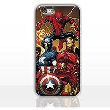 iPhone 6/6s Cómic Carcasa de Telefono / Cubierta para Apple iPhone 6s 6 / Protector de Pantalla y Paño / iCHOOSE / Spiderman, Cpt América, Iron Man