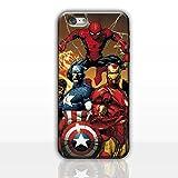 iPhone 7 Comique Étui Rigide pour Téléphone / Coque pour Apple iPhone 7 / Protecteur D'écran et Chiffon / iCHOOSE / Spiderman, Cpt America, Iron Man