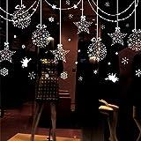 Minions Boutique Weihnachten Aufkleber Aufkleber haengen Kugeln glaenzende Sterne Schneeflocken & Weisse Engel Fuer Fensterverkleidungen Dekor Wand