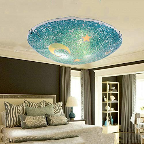 Lights & Lighting Ceiling Lights & Fans Cartoon Children Room Lights Men And Girls Bedroom Lights Creative Chandeliers Eye Care Baby Room Lighting Blue Ball Pure And Mild Flavor