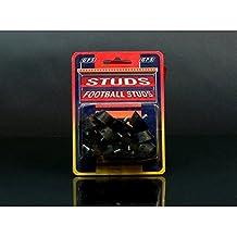 Rucanor - Paquete de tacos de recambio negros de plástico para bota de fútbol