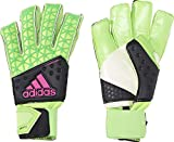 adidas Herren Torwarthandschuhe Ace Zones Fingersave Allround, Solar Green/Core Black/Shock Pink S16/White, 11, AH7807