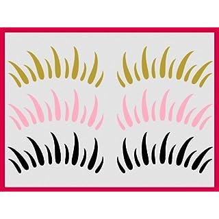 wandtattooshop.eu Wimpern_70_3 Tattoo Twingo, Beetle Styling Aufkleber 30 Farben-schwarz70, Weiß