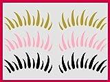 wandtattooshop.eu Wimpern_41_3 Tattoo Twingo, Beetle Styling Aufkleber 30 Farben-pink41, Weiß