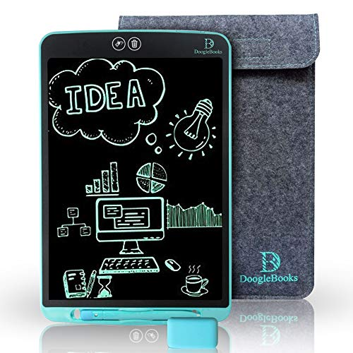"""writer tablet DoogleBooksTM 12"""" Partial Erasure LCD Writing Board - Portable LCD Tablet with 12 inch Display - Electronic Writing Drawing Board - E-Writer for Kids - Includes 2 Styluses"""