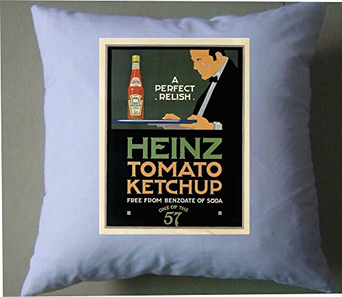 A Perfect RELISH Heinz Tomato Ketchup rétro style shabby chic Housse de coussin