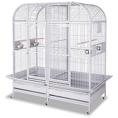 Montana Cages Papageienkäfig XXL Los Angeles - Platinum Käfig, Voliere, Zimmervoliere für...