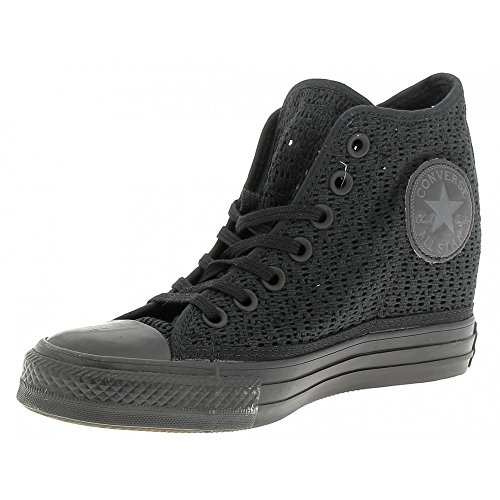 All Star Mid Lux Tiny Crochet Donna Black/Black/Black