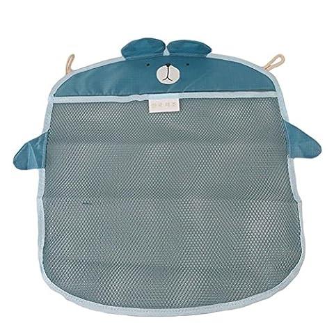 Pizies Baby bath toy storage bags,Bathroom Hanging Organizer(Blue Bear)
