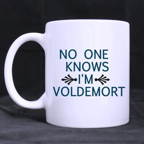 Halloween's Day Funny Guy Mugs Funny Sayings No One Knows I'm Voldemort Tea or Coffee Cup 100% Ceramic 11-Ounce White Mug