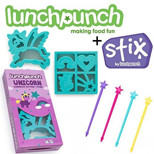 Lunch Punch Einhorn Sandwich Cutter + Stix lang Bento kebob Sticks (Obst-sticks Für Kinder)