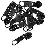 maDDma  10 Reißverschluss Zipper Schieber f. 8mm Endlosreißverschluss Non Lock schwarz