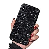 Misstars Luxe Diamant Coque pour iPhone XS Max, Transparente Bling Glitter Housse de...