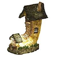 """""""The Home of Water Goldwasp"""" Illuminated Solar Powered LED Fairy Dwelling Light"""
