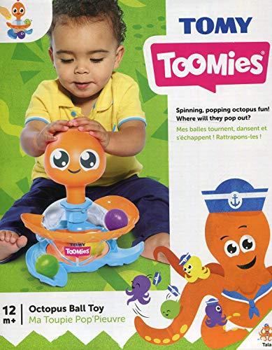 TOMY Toomies - Ma Toupie Pop Pieuvre E72722, Jouet d'Éveil Bébé, Toupie Enfant Multicolore, Jouet Intéractif Adapté aux Bébés de plus d'1 an