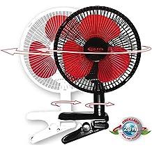 Eco-Fan !!! Oszillierend !!! ClipFan 23cm AC 23Watt 2 Stufig (Weiß)