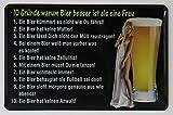 Kühlschrankmagnet mit 3D-Aufkleber ca. 87 x 56 mm - VATERTAG - 10 Gründe warum Bier besser ist als eine Frau …