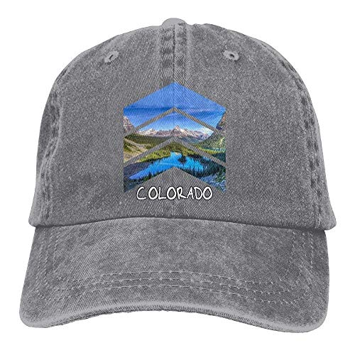 Preisvergleich Produktbild Aeykis Rocky Mountains Colorado Triangle Classic Unisex Baseball Cap Adjustable Washed Dyed Cotton Ball Hat Black ABCDE11365