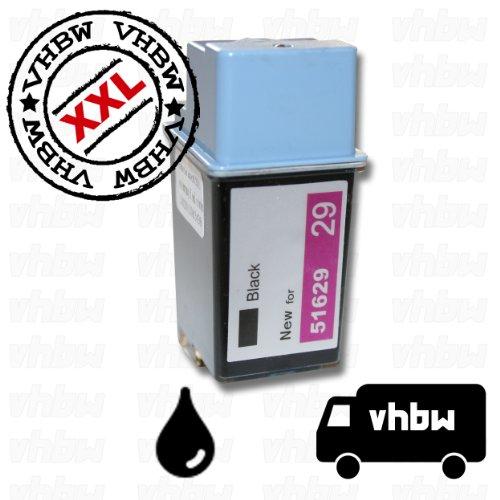 vhbw kompatible Ersatz Tintenpatrone Druckerpatrone schwarz für Drucker HP DeskJet 692C, 693C, 694C, 695C, 695Csi, 697C