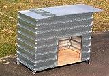 Hochbeet mit Abdeckung von MSL für die Terrasse und den Balkon, Typ TBH PLUS, L/B/H = 120/60/93 cm