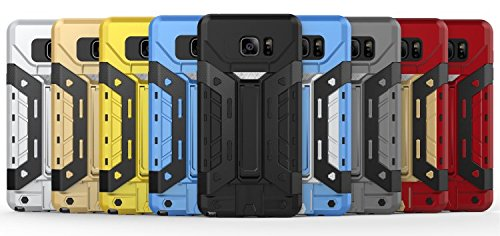 EKINHUI iPhone SE 5S 5 Coque,New Hybrid Armure Defender PC + TPU Hard Case de protection [antichoc Case] avec fente stand / carte pour iPhone SE 5S 5(Yellow) Yellow
