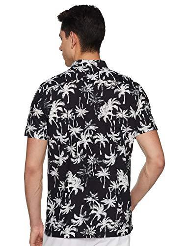 Levi's Men's Printed Regular fit Casual Shirt (52320-0004_Black L)
