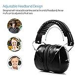 Ear Muffs Headband Mpow Sicherheit Ohrenschützer SNR 34 dB Gehörschutz, ANSI S3.19&CE Zertifiziert, Faltende-gepolsterter Kopfbügel Kapselgehörschützer mit Weichschaum für Erwachsene und Kinder - 4